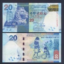 HONG KONG 20 Dollars 01.01. 2010 UNC P 212 a