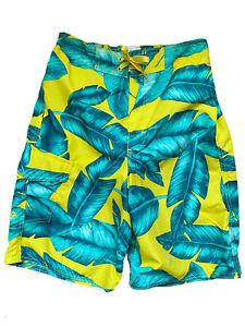 SALE Joe Boxer Boys Leaf Print Swim Trunk Empire Yellow