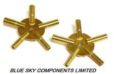 Set 2 Keys Clock Keys for Winding BRASS Spider Keys 1 x Odd 1 x Even All Sizes