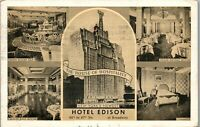 Hotel Edison 46th and Broadway New York City NY Vintage 1942 Postcard BB1