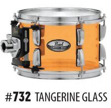 "Pearl Crystal Beat 8"" Diameter X 7"" Deep Mounted Tom/#732/Tangerine Glass/NEW"