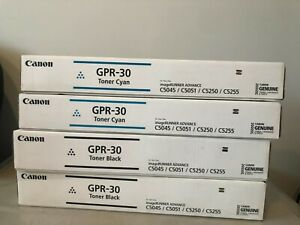 4 New Canon OEM GPR-30 Toners 2 Black and 2Cyan  - Sealed Boxes