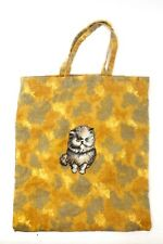 Cute Cat Shopping Bag Tote Bag Kitty Fold-able Cloth Reusable Grocery Hobo Bag