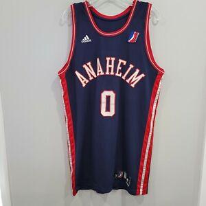 2006 Adidas Anaheim Arsenal NBA D League Majic Dorsey 0 Game Worn Jersey 44 L