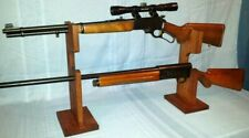 """2 Gun Rack"" Shotgun/Rifle/Muzzleloade r 2 Pc Tabletop/Fireplace/Gun Show Display"