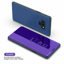 Smart View Mirror Leather Flip Stand Case Cover For Samsung Galaxy Note 8 9 Plus
