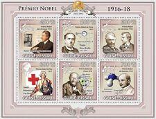Nobel Prizes 1916-18 M Planck, F Haber Guinea-Bissau 2009 m/s Mi.4532-37 GB9618a