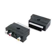Adaptador Conversor Scart Euroconector Macho a 3RCA Hembra AV