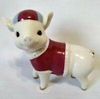 "LENOX ""Grand Slam Sam"" Baseball Pig Ivory Fine China Figurine with Box ~ Mint!"