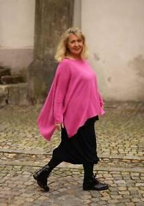 Lagenlook Traumland - OVERSIZE PULLOVER & Cashmere Gr 42 44 46 48 50 52 - pink