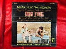 JOHN BARRY BORN FREE ORIGINAL SOUND TRACK MGM RECORDS MATT MONRO JAMES HILL LP
