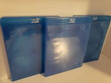 """Bluray Replacement Case 3 Disc Triple Movie Thick Storage Case 5/8"""" 16mm w logo"""