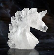CLEAR QUARTZ UNICORN 5 cm, Reiki, Spirit Animal, Chakra, Master Healing Crystal