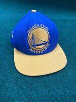 Golden State Warriors NBA New Era Mitchell & Ness Blue Gold Snapback Hat Cap