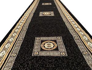 Seide Medusa Teppich 300x75 versac Rug Orient Carpet Läufer Barock Mäander Neu