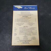 California Zephyr 1969 Breakfast Card Menu Vintage Authentic Original