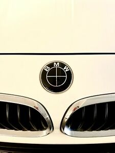 """BRAND NEW OEM BMW Blacked Out 'Competition Package"""" Roundel Emblems 3 Piece"""