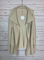 Umgee USA Boutique Women's M Ivory Beige Cute Pocket Sweater Cardigan NEW TAGS