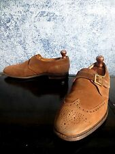 KING'S by Cheaney Brown Snuff Suede Brogue Short Wingtip 10.5 UK 11.5US England