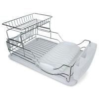 2-Tier 23 Inch Chrome Plated Steel Dish Rack