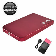 USB 3.0 Sata 2.5 inch Hard Disk Drive HDD External Enclosure Case Box Hotpink