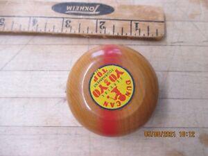 Vintage Duncan Yo Yo Tournament Tops Wood Yellow label Rare personalized mirmaid