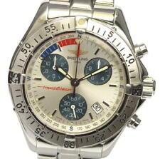 BREITLING Transocean A53040.1 Date Chronograph Silver Dial Quartz Men's_559968