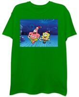 Nickelodeon Mens T-Shirt Bright Green Size Large L Spongebob Graphic Tee #048