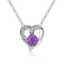 Regalos para Dia de las madres Cadena Collar corazón plata de ley