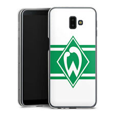 Samsung Galaxy J6 Plus (2018) Silikon Hülle Case - Werder Stripes white