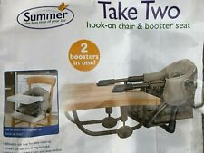 Hook to Table or Chair Feeding Highchair Secure Booster Seat by Summer Portable