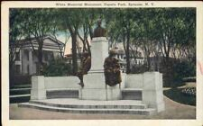 (gyi) Syracuse NY: Fayette Park, White Memorial Monumen