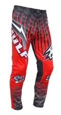 Pantalons de cross rouges en polyester pour homme