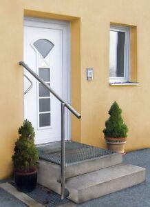Gel/änder f/ür seitliche Montage an Treppe Balkon und Terrasse mit waagerechte Querstreben bis 6m am St/ück Variante L/änge 120 cm mit 2 Pfosten und 5 Querstreben Seitenabstand 30mm