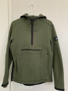 The North Face Mens Green 1/2 Zip Pullover Jacket Sweater Size Small supreme