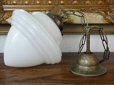 Deckenlampe Jugendstil Hängelampe Lampe Antik Pendelleuchte Opal Glas Messing