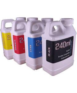 Dye Sublimation Ink 4- 240ml bottles for Brother Inkjet Printers NON-OEM