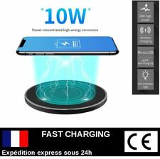 CHARGEUR INDUCTION SANS FIL FAST CHARGE SMARTPHONE Apple Samsung Huawei Xiaomi..