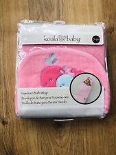 Koala Baby Newborn Hooded Towel Bath Wrap 0-6 Months Pink New