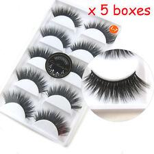 5 X 5 Pairs Luxurious 3D False Eyelashes Cross Natural Long Eye Lashes Makeup L7