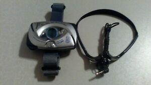 Panasonic RF-SW50 Shock Wave FM/AM Radio 2-Band Receiver w/ strap & Headphones