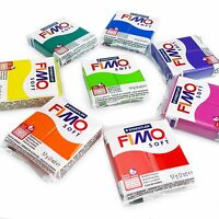 FIMO Soft Polymer Oven Modelling Clay - 57g - Set of 8 - Rainbow Colours