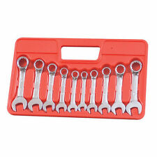 10pc Stubby Combination Spanner Set 10-19mm Short Spanners Wrench Stubbie Metric