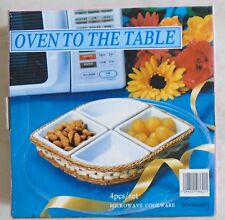 Oven to the Table Microwave Cookware 4pcs/set M.Z.P.K. Ltd 97H0694 New in B