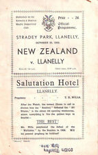 NEW ZEALAND ALL BLACKS TOUR 1935 v LLANELLI RUGBY PROGRAMME  ***RARE***