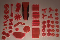 LEGO Lot Of 50 Translucent Neon Orange Parts / Bricks / Windscreens