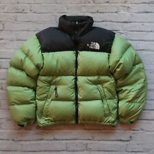 Vintage 90s North Face 700 Down Nuptse Puffer Jacket Avocado Green Puffy
