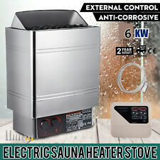 6KW Wet&Dry Sauna Heater Stove External Control Commercial Wall-mount Time