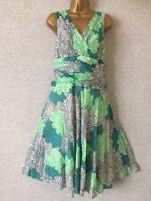 Monsoon 100% cotton lined summer  dress sz 16