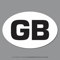 SKU2531 - GB Oval Sticker EU European Road Legal Car Badge Vinyl